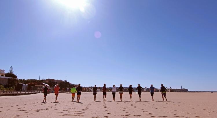 Warm up on Praia da Rocha